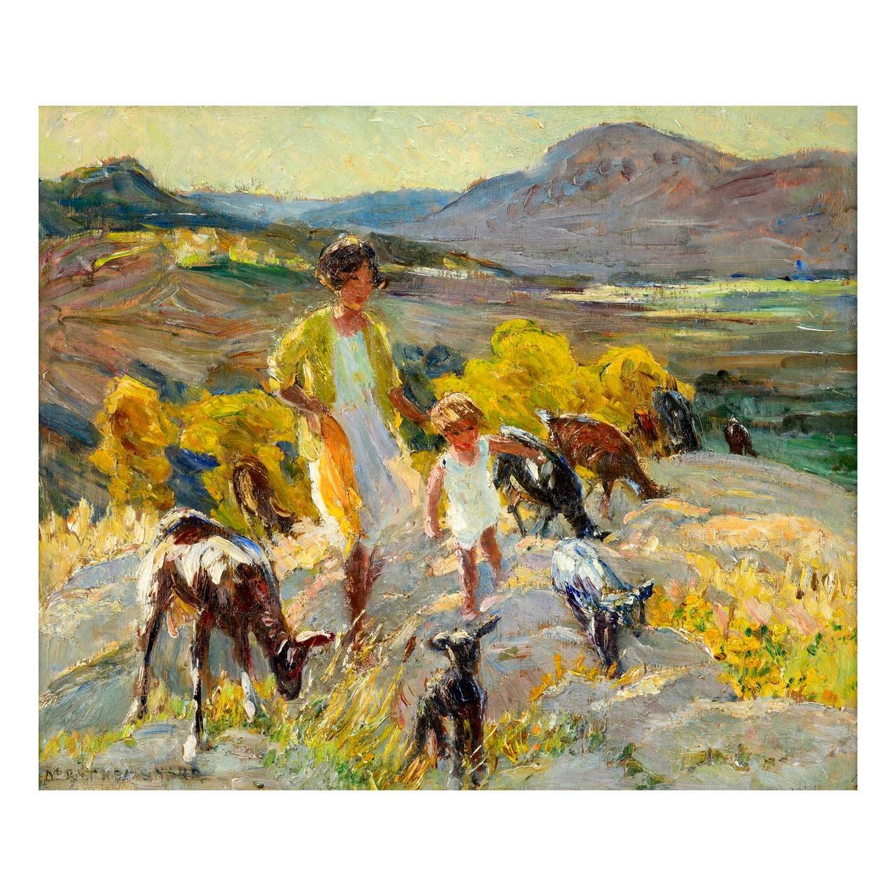 Dorothea sharp evening in catalonia painting at 1stdibs for Artiste peintre catalan