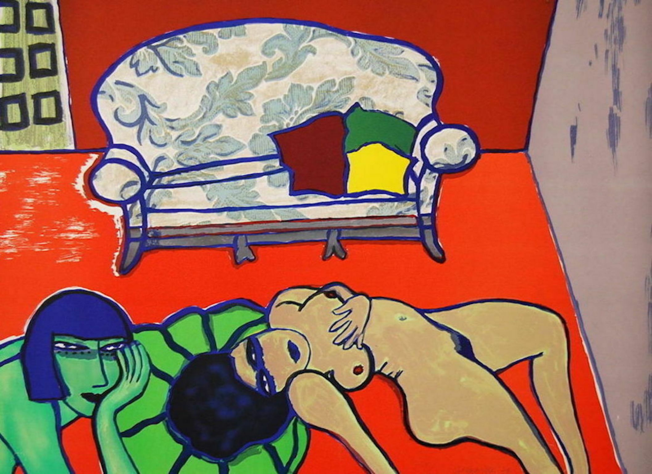 The Conversation, 1979 Limited Edition Lithograph, Guillaume Corneille