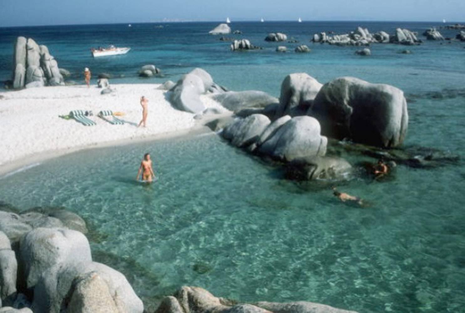 Slim Aarons 'Cavallo Bathers, Corsica' (Slim Aarons Estate Edition)