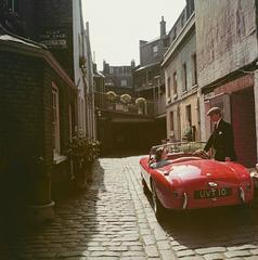 Sports Car Couple, Slim Aarons Estate Print (free shipping