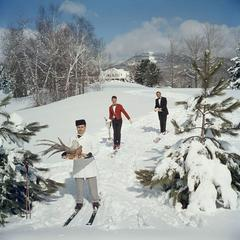 Skiing Waiters (Slim Aarons Estate Edition) Free Shipping