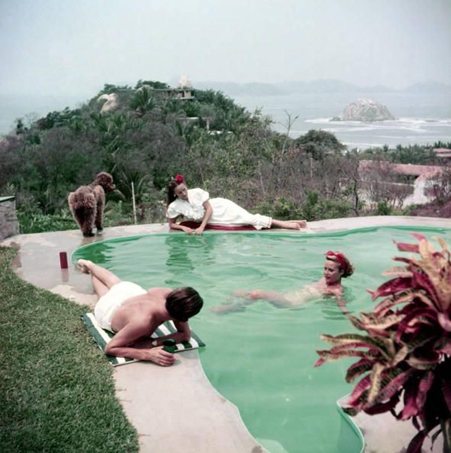 Slim Aarons 'Dolores Del Rio by the Pool, Acapulco' (Slim Aarons Estate Edition)
