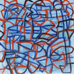Orange and Blue (Graffiti Lines Series)