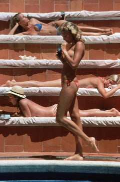 Slim Aarons 'Catherine Wilke, Capri' (Slim Aarons Estate Edition)
