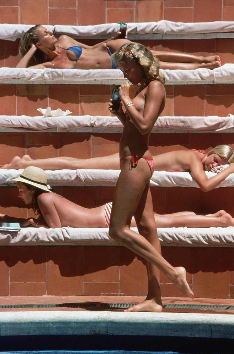 1980—Catherine Wilke joins the topless sunbathers on the island of Capri.  Estate stamped and hand numbered edition of 150 with certificate of authenticity from the estate.   Chromogenic Lambda print   60 x 40 inches $5400  40 x 30
