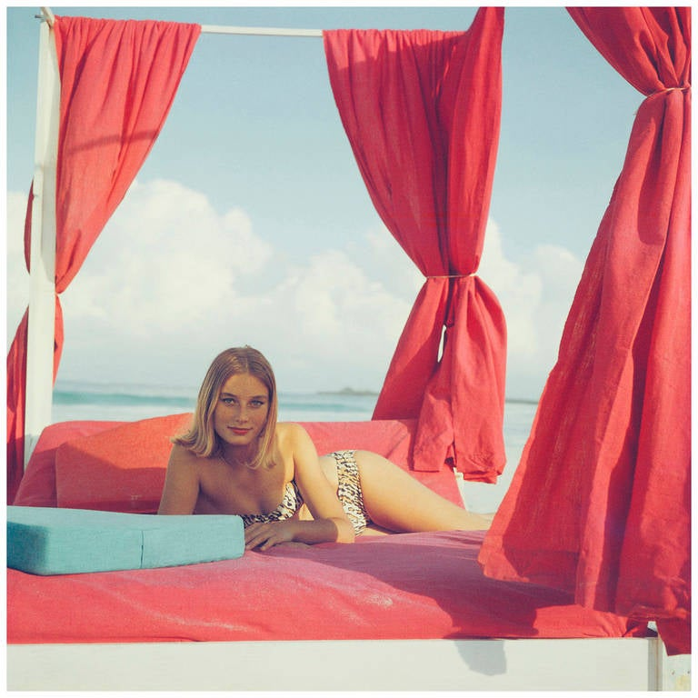 Slim Aarons Portrait Photograph - Tania Mallet in the Bahamas, 1961 (Goldfinger)