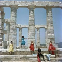 Dmitris Kritsas at the Temple to Poseidon, Sounion, Greece  (Slim Aarons Estate)