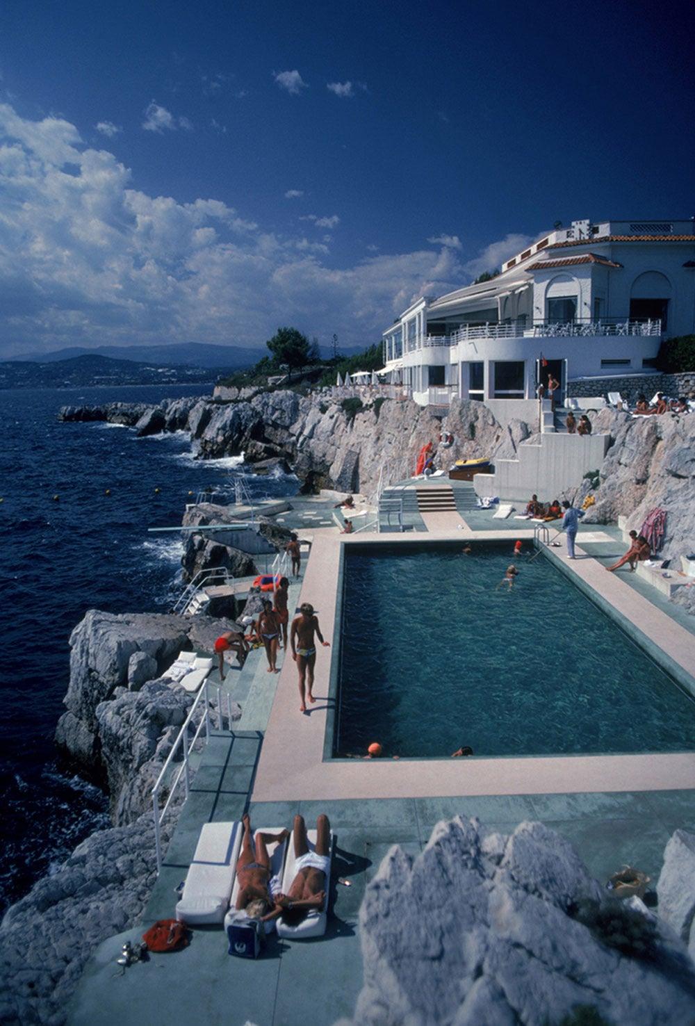 Slim Aarons Landscape Photograph Hotel Du Cap Eden Roc Pool