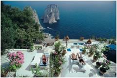 Sunbathers at Il Canille, Capri, Italy (La Dolce Vita), Aarons Estate Edition