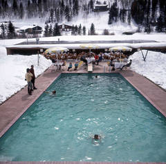 Snow Round the Pool, Slim Aarons Estate Edition, free shipping
