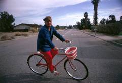 Truman Capote Cycling, Slim Aarons Estate Edition, free shipping