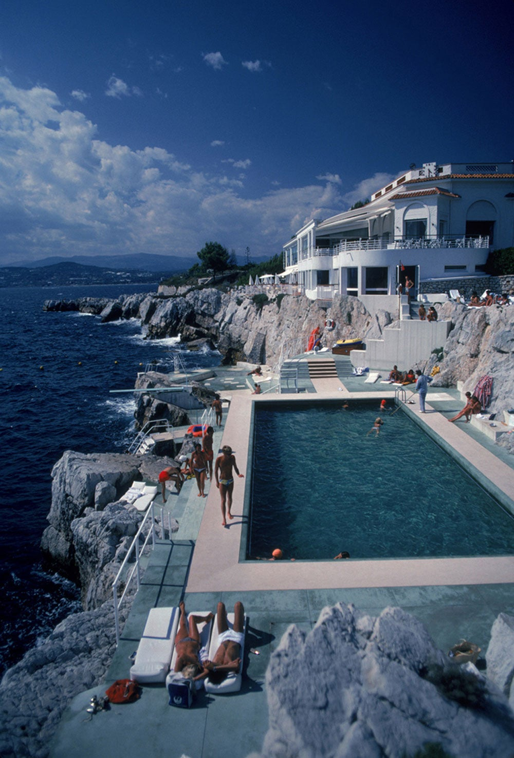 slim aarons the h tel du cap eden roc antibes france limited edition estate stamped