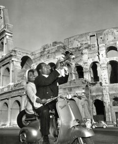 Jazz Scooter: Louis Armstrong and Lucille Brown  (Slim Aarons Estate Edition)
