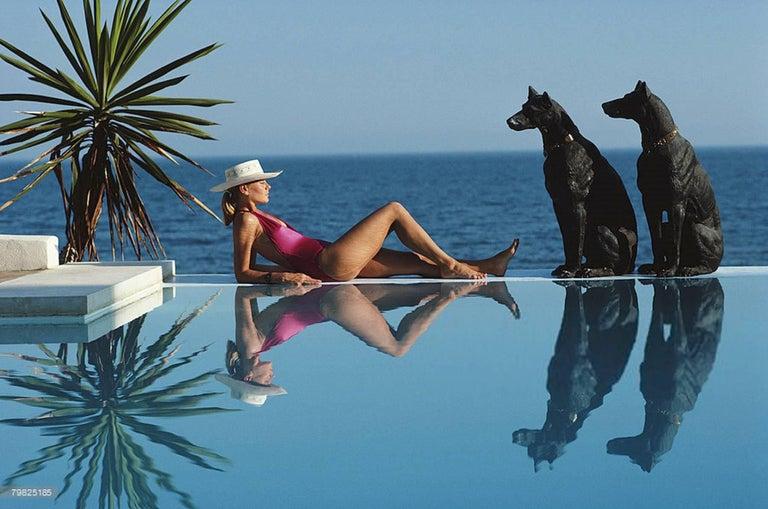 Slim Aarons 'Marbella Pool' (Slim Aarons Estate Edition) - Photograph by Slim Aarons