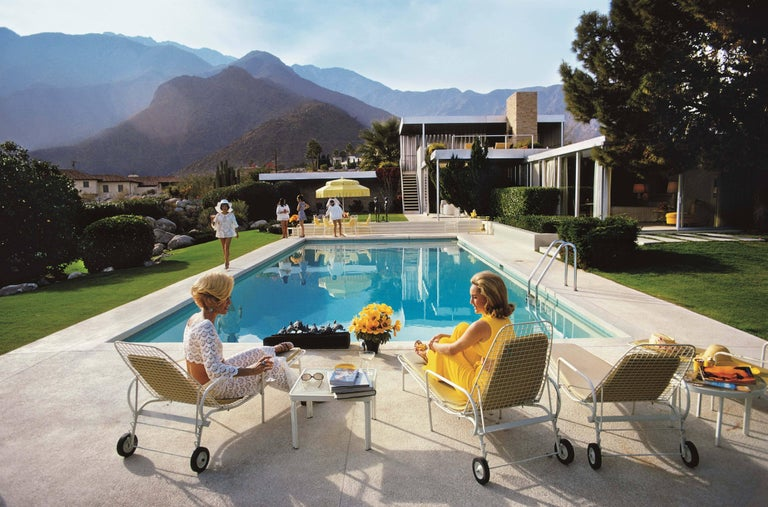 Poolside Glamour, Slim Aarons Estate Edition - Photograph by Slim Aarons