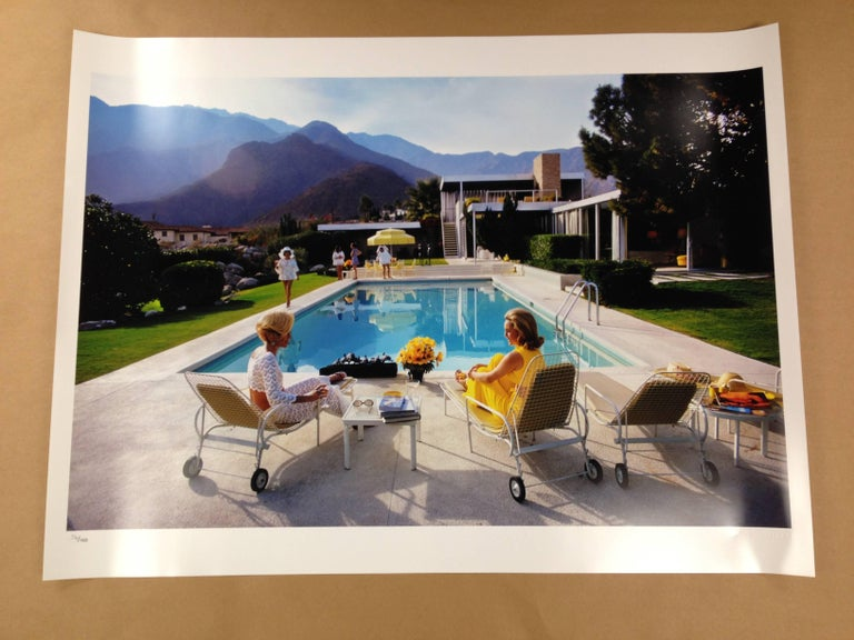 Poolside Glamour, Slim Aarons Estate Edition - Realist Photograph by Slim Aarons