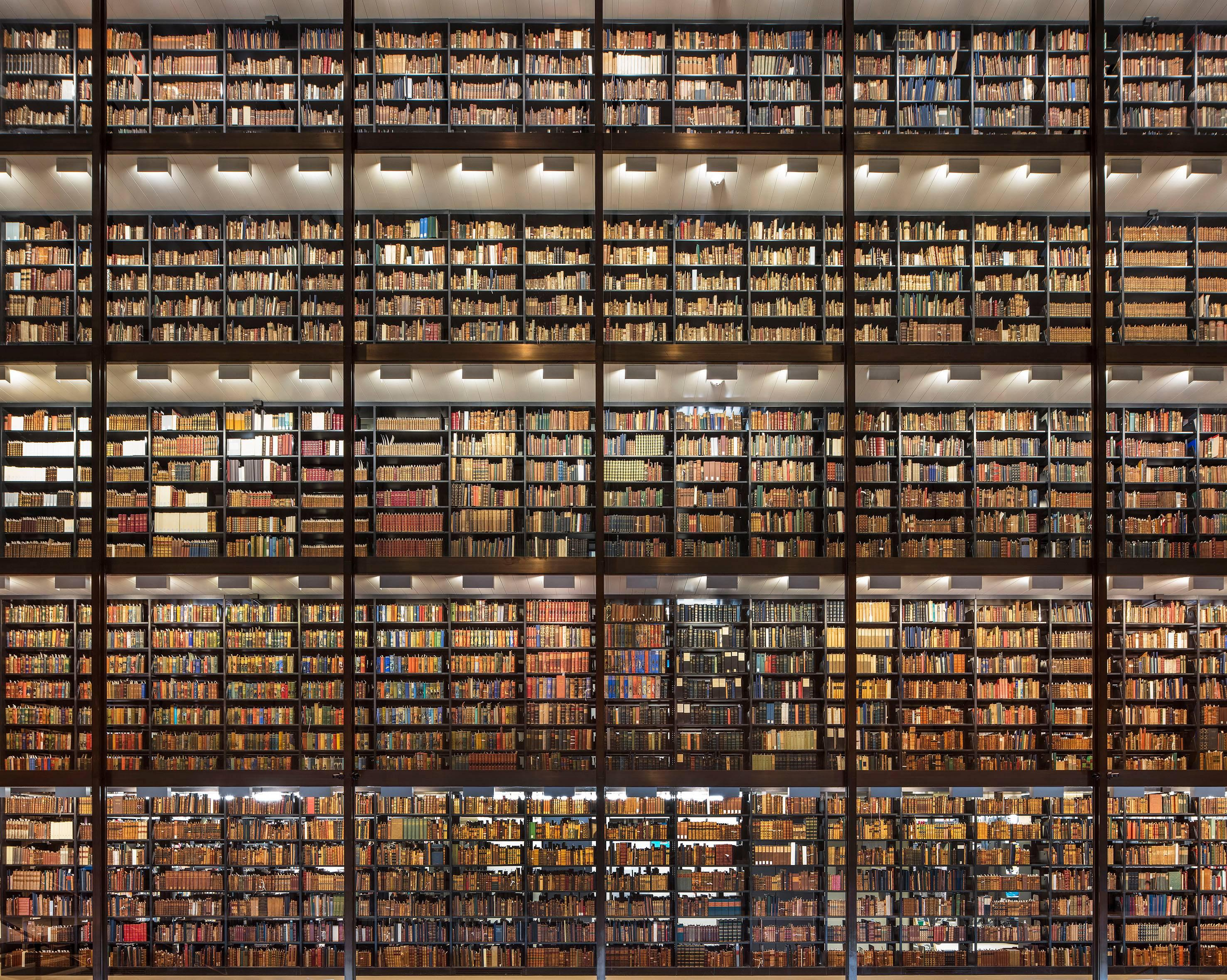 Shining Wall of Books,  Beinecke Rare Books and Manuscript Library, New Haven