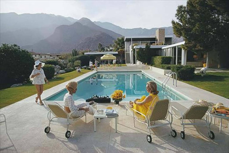 Slim Aarons Kauffman Desert House (sister image to Poolside Gossip) - Photograph by Slim Aarons
