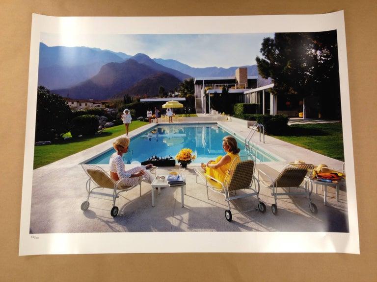 Slim Aarons Kauffman Desert House (sister image to Poolside Gossip) - Gray Landscape Photograph by Slim Aarons