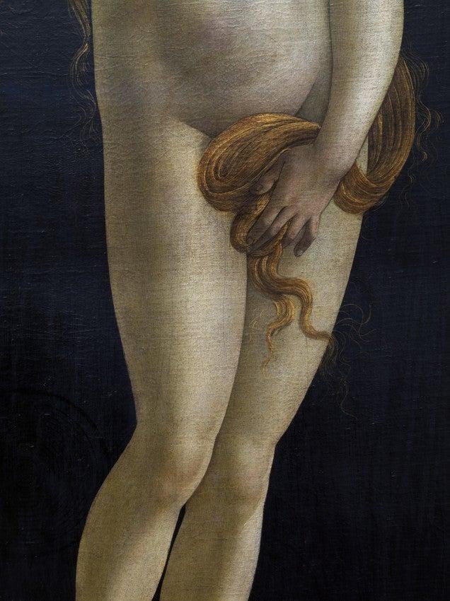 Detail from: Venus, Sandro Botticelli Workshop, Painting Gallery, Berlin