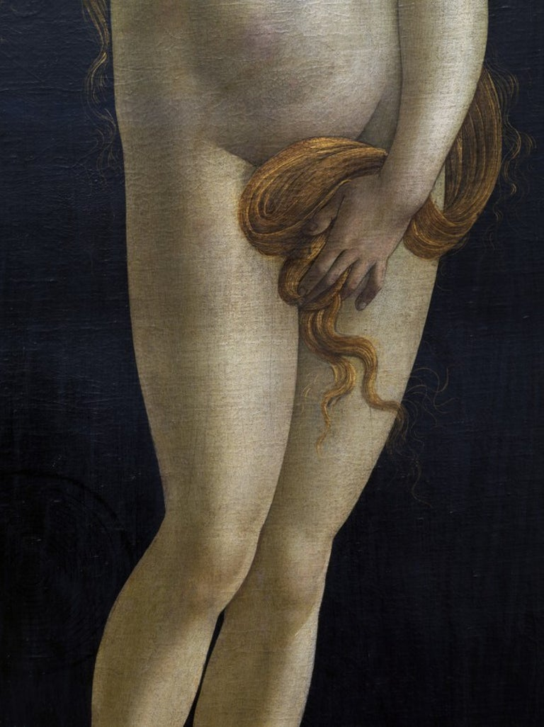 Reinhard Görner Nude Photograph - Detail from: Venus, Sandro Botticelli Workshop, Painting Gallery, Berlin