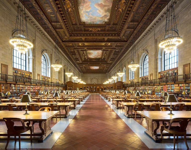 Reinhard Görner: Rose Main Reading Room (New York Public Library) - Photograph by Reinhard Görner