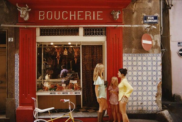Slim Aarons Saint-Tropez Boucherie, French Riviera (Slim Aarons Estate Edition) - Photograph by Slim Aarons