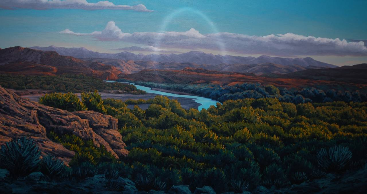 Bill Wiman Big Bend Country Painting At 1stdibs