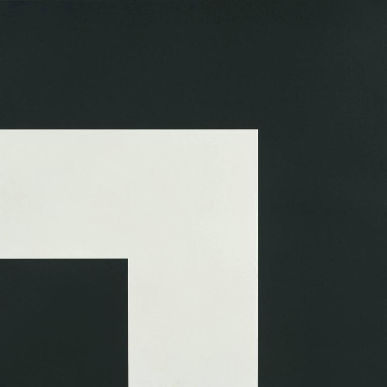 Ellsworth Kelly Abstract Print - Two Blacks and White