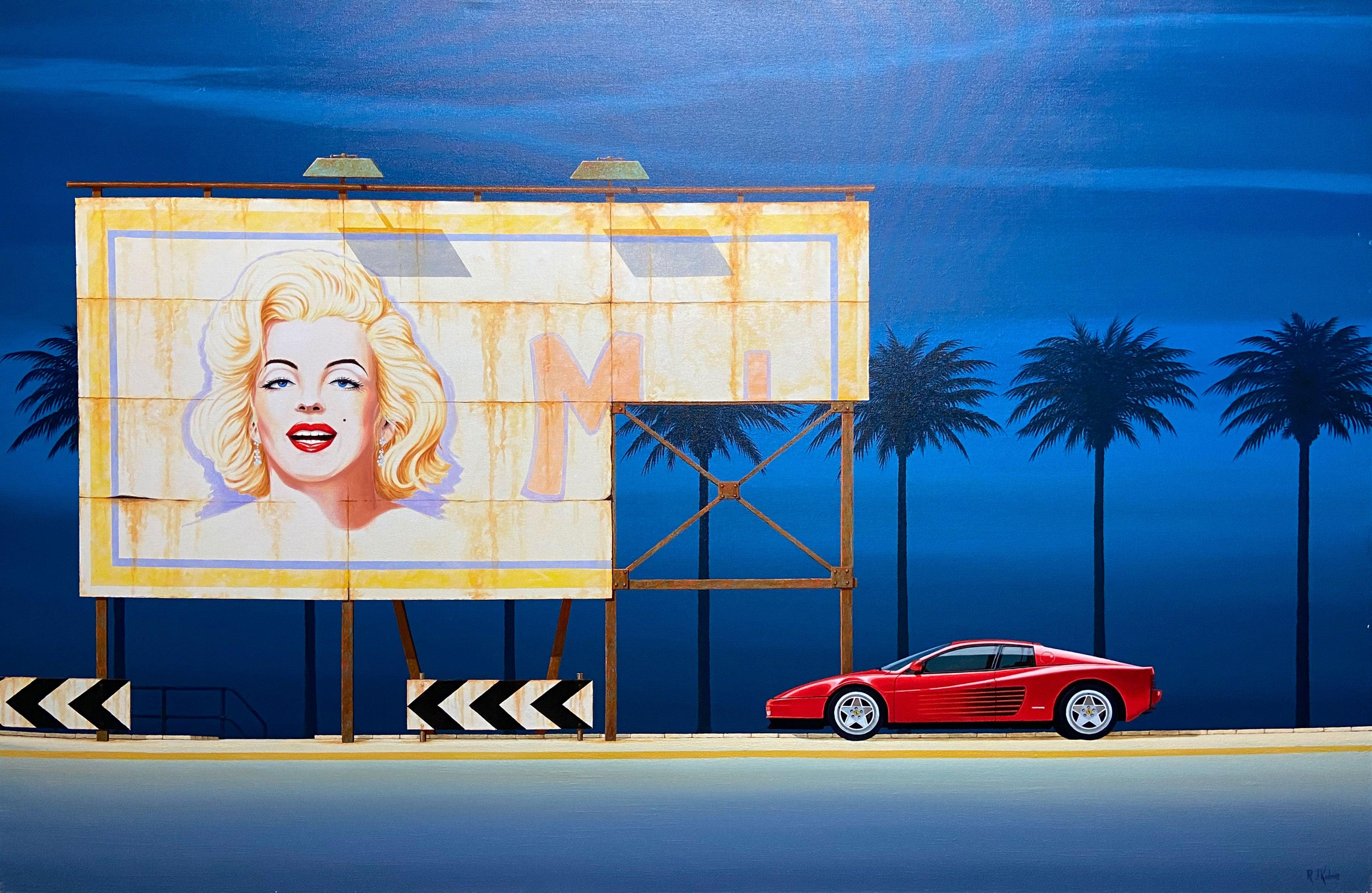 Timeless Highway — Richard Kulma b. 1959 (Realist, Pop, Surrealist) Oil 2015