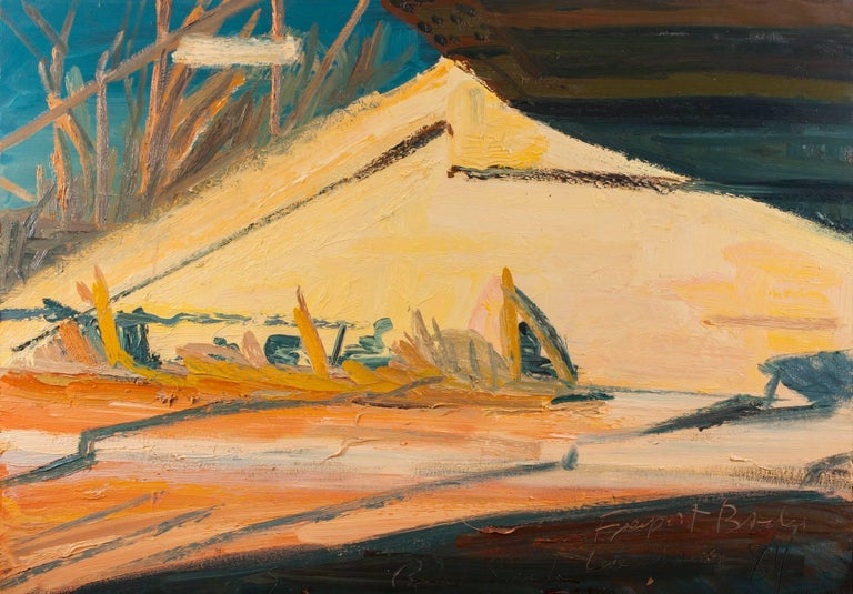 """RICHARD SHEEHAN (1953 - 2006)    Sheehan's paintings have been described as possessing a """"painterly realism"""" and are often compared to the works of Bay Area artists such as Richard Diebenkorn, James Weeks, and Wayne Thiebaud. Sheehan painted en"""