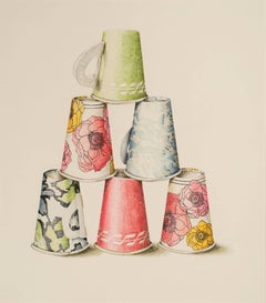 6 Mixed Paper Cups