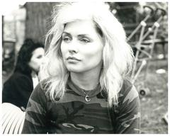 Debbie Harry in Tompkins Square Park wearing Stephen Sprouse Camo