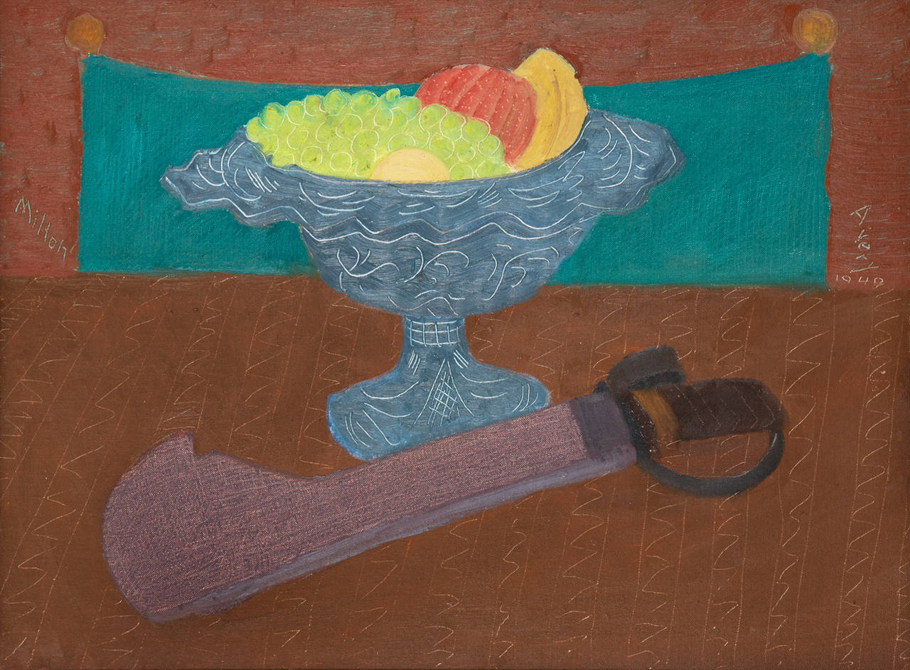 Milton Avery Still Life With Fruit Painting At 1stdibs