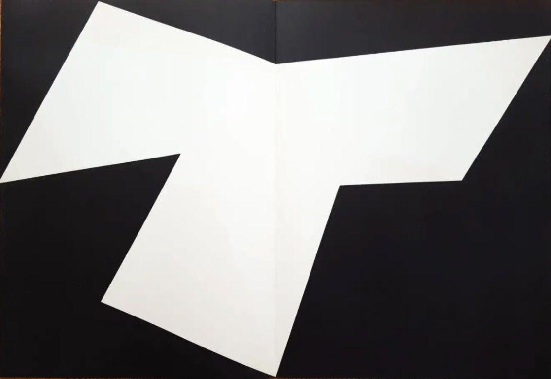 """Ellsworth Kelly """"Derrière Le Miroir No. 110 """" 1958 Lithograph Paper 1958"""