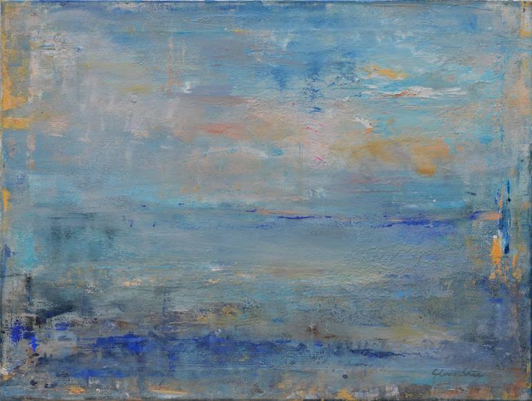 "Gloria Sáez Landscape Painting - Gloria Saez, ""Sea - Mar"", Oil on canvas, 2017"