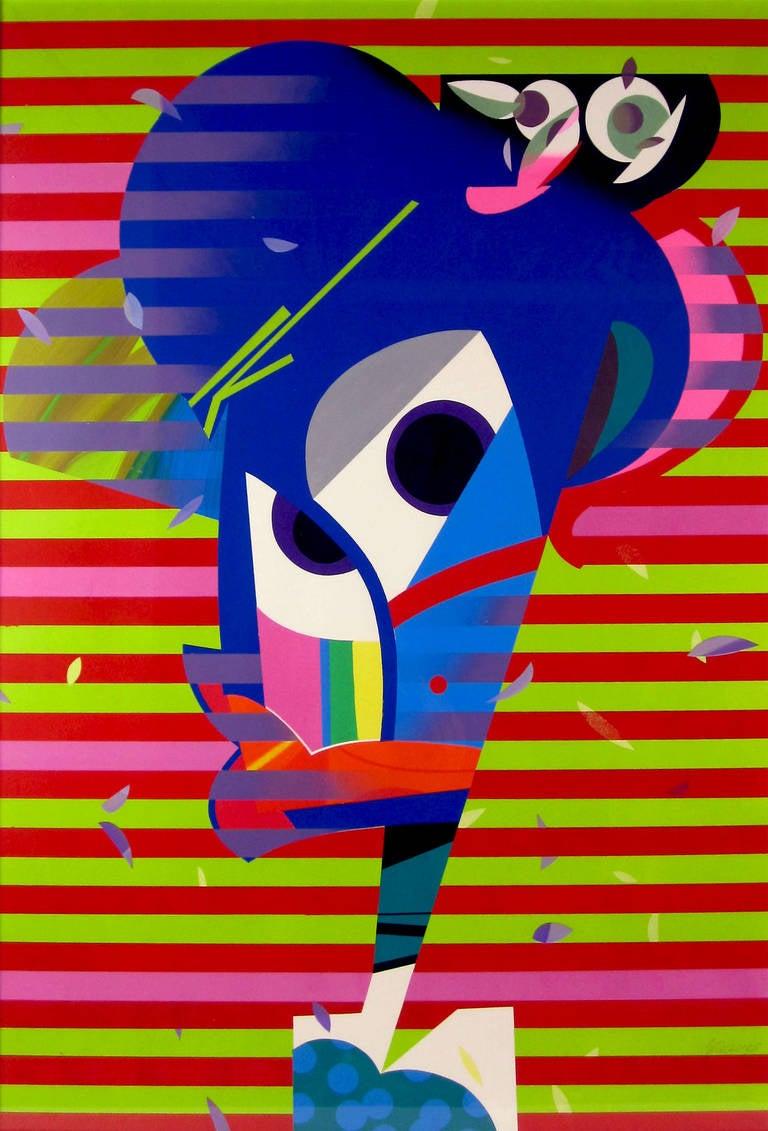 Jose Palacios, Coqueta, Acrylic on paper, 2014