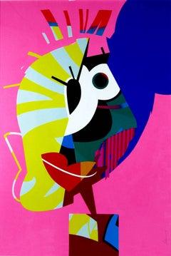 Jose Palacios, Rosa, Acrylic on paper, 2014