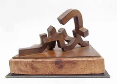 Macareo, Forged Steel and Oak Sculpture, Spanish, 2016