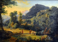 Mountain Landscape with Animals and Figures