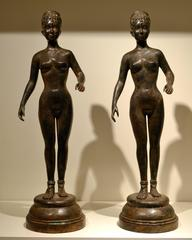 Pair of Nude Women Statues