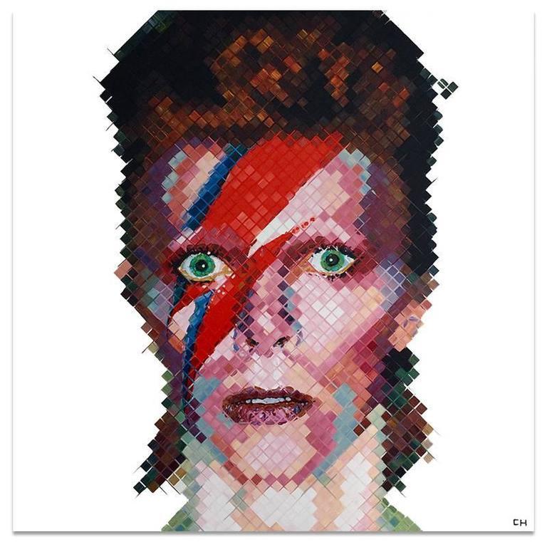 Charlie Hanavich Portrait Painting - David Bowie