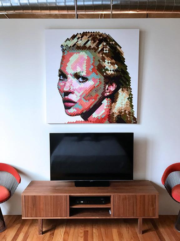 Kate Moss  - Painting by Charlie Hanavich