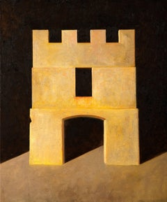 """""""Fortress"""" - Contemporary Realism - Architectural Painting - de Chirico"""