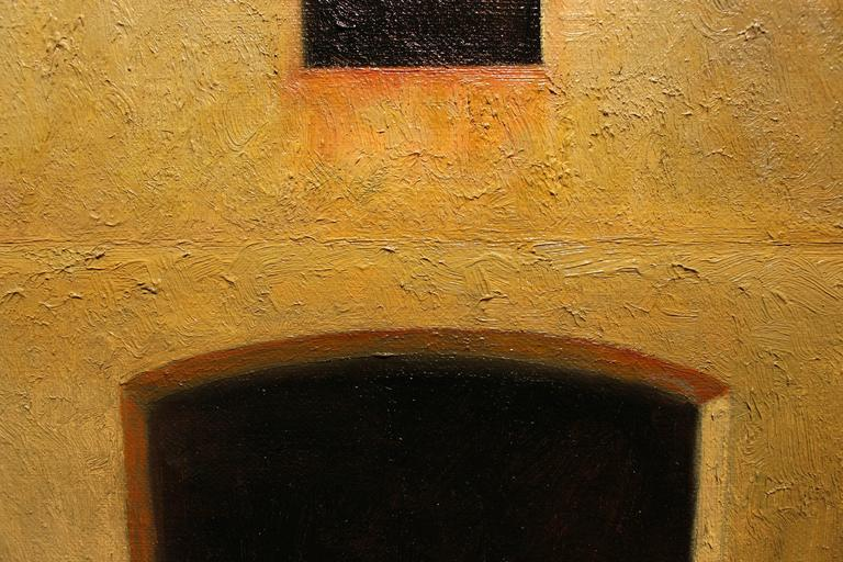 Fortress  - American Realist Painting by Edward Rice