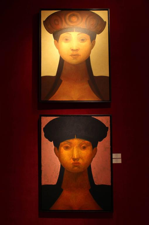 Icon IV - Contemporary Painting by Edward Rice