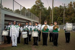 """""""Band, Pre-Game, Dallas County, AL"""" - Southern Documentary Photography"""