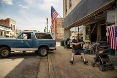 """""""Bronco & American Flags, Hale County, AL"""" - Southern Documentary Photography"""