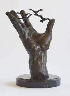 """Hand of NOAA"" - Contemporary Bronze Figurative Sculpture - Bernini"