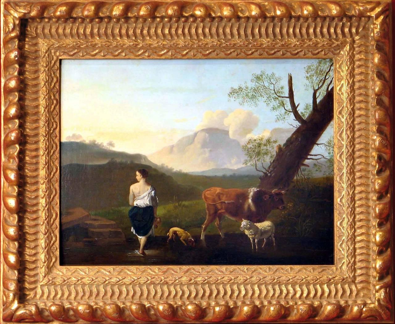 Shepherd with Animals near Mount Vesuvius
